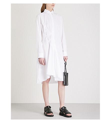 JIL SANDER Egerie cotton shirt dress (White