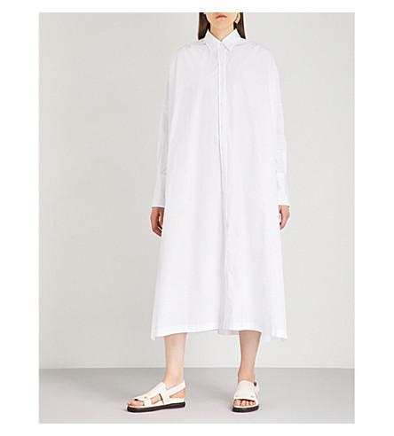 JIL SANDER Emma cotton-poplin shirt dress (White