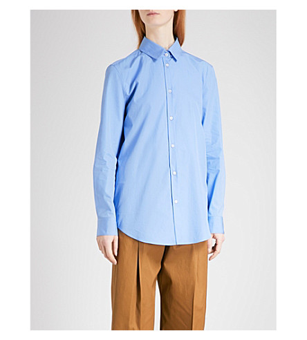 JIL SANDER Clotilde overszied cotton shirt (Light+blue