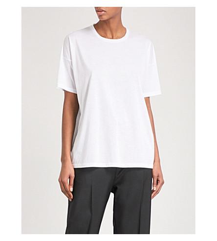 JIL SANDER Relaxed-fit cotton-blend T-shirt (Natural