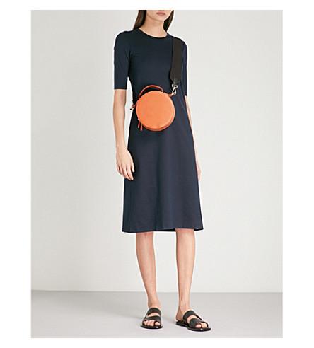 JIL SANDER Sor stretch-cotton midi dress (Dark+blue