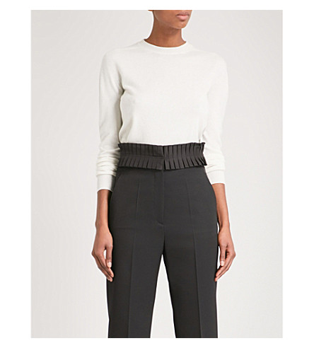 JIL SANDER Relaxed-fit cashmere jumper (Natural