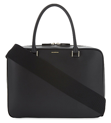 JIL SANDER J-Vision leather briefcase (Open+mix