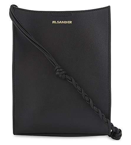 JIL SANDER Tangle leather cross-body bag (Black