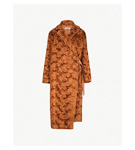 JIL SANDER 福克兰马海毛和棉混纺泰迪大衣 (中 + 米色