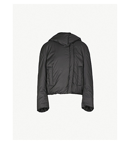 JIL SANDER Flame shell puffer jacket (Black