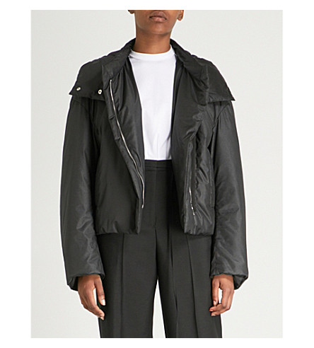 JIL SANDER Flame shell puffer jacket (Black