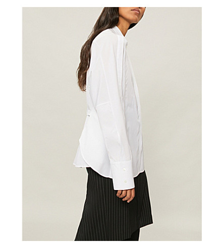 Camisa de popelina ajustable Blanco JIL SANDER algodón y OSAUnxZqw