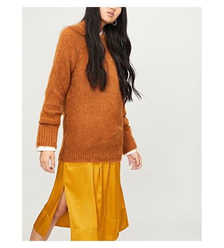 JIL SANDER 马海毛和丝绸混纺宽松版型毛衣 (铁锈