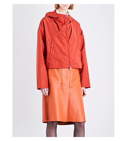 JIL SANDER Dropped shoulder silk jacket (Medium orange