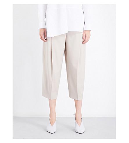 JIL SANDER Dexter high-rise wide trousers (L+beige