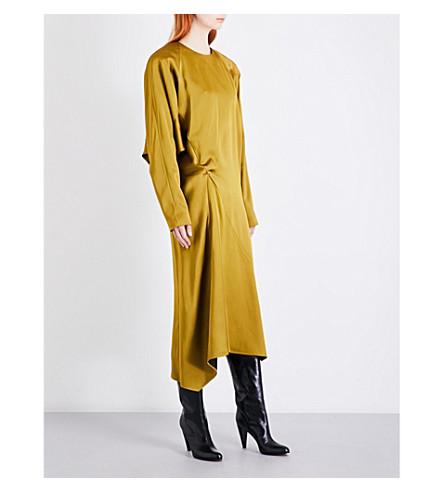 JIL SANDER Duckling asymmetric dress (Medium+yellow