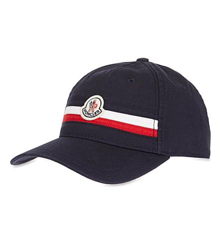 MONCLER Striped cap (Navy