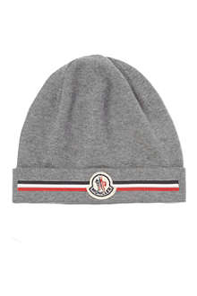 MONCLER Striped panel beanie