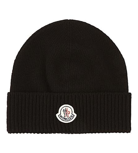 MONCLER Logo wool beanie (Black