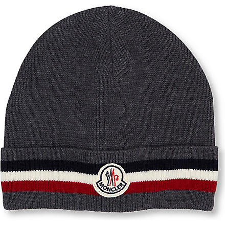 MONCLER Striped beanie (Grey