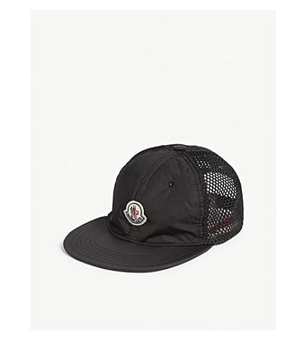 MONCLER Logo shell strapback cap (Black