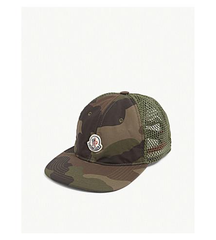 MONCLER - Logo mesh camouflage baseball cap  ef0c128ad5a