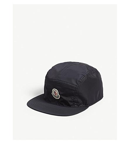 MONCLER Logo nylon strapback cap (Navy