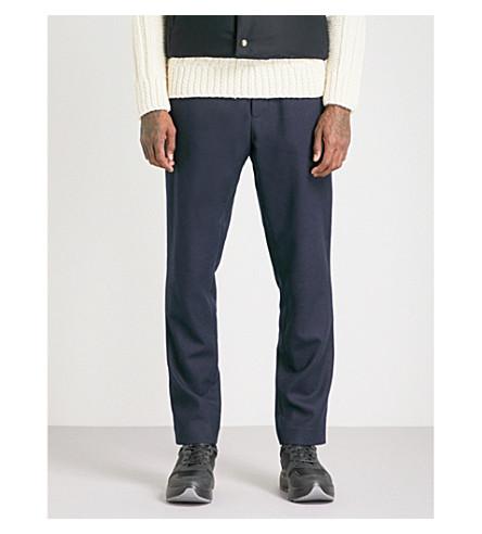 MONCLER GAMME BLEU Regular-fit wool trousers (Navy