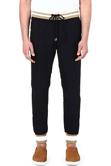 MONCLER Ribbed cotton chinos