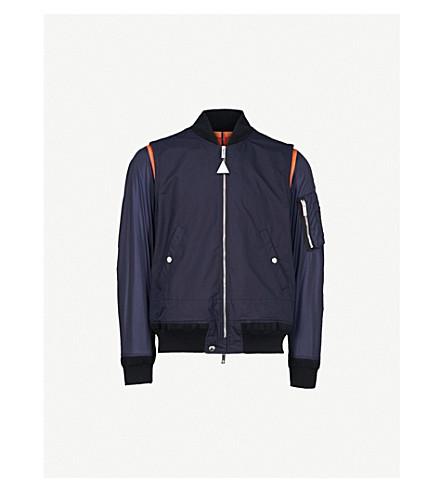 MONCLER Montussan cotton and silk-blend bomber jacket (Navy