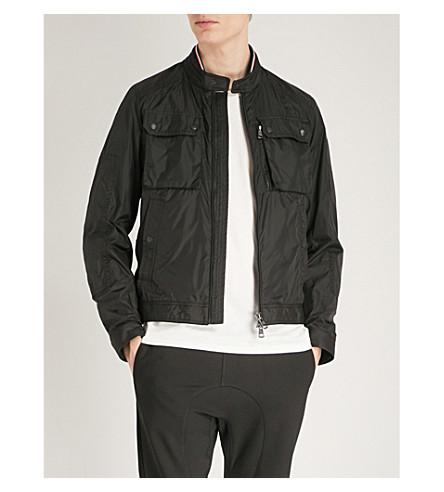 MONCLER Collarless shell jacket (Black