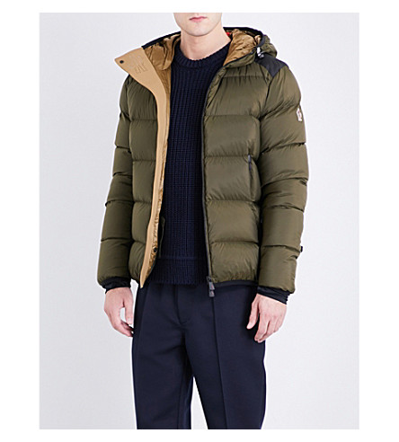 MONCLER GRENOBLE Hintertux quilted shell-down jacket (Khaki