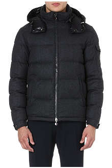 MONCLER Montgenevre felted-wool quilted jacket