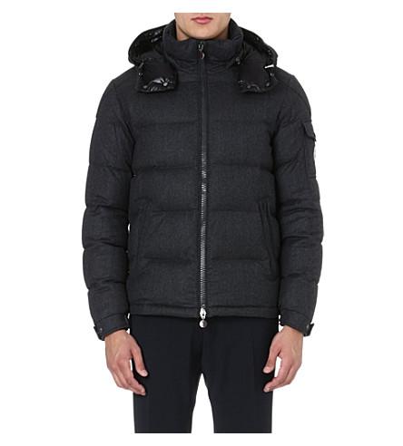 MONCLER Montgenevre felted-wool quilted jacket (Grey
