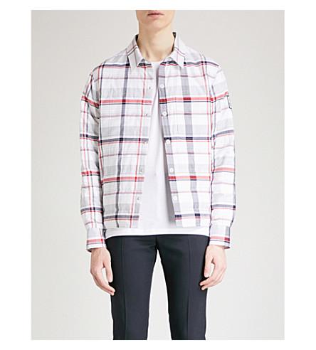 MONCLER GAMME BLEU Checked cotton-down shirt jacket (Multi