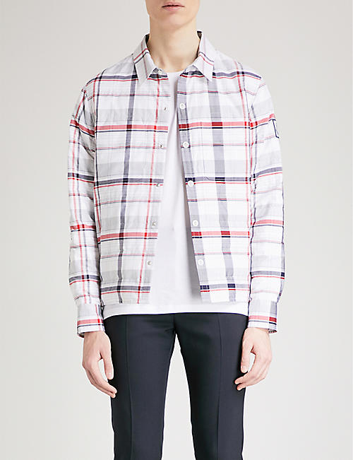MONCLER GAMME BLEU Checked cotton-down shirt jacket