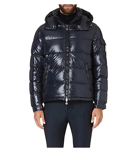 MONCLER Quilted hooded jacket (Navy