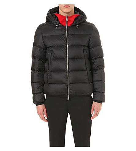 MONCLER Contrast-panel quilted nylon jacket (Black