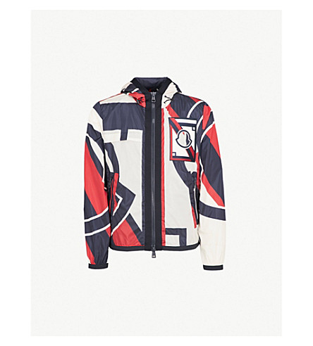 MONCLER Moncler x Craig Green shell jacket (Red+white+navy
