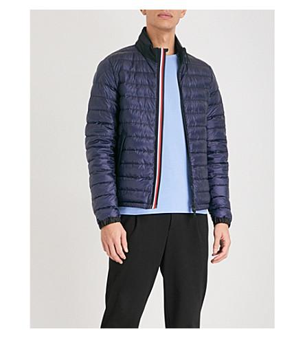 MONCLER Arroux striped-trim shell-down jacket (Blue