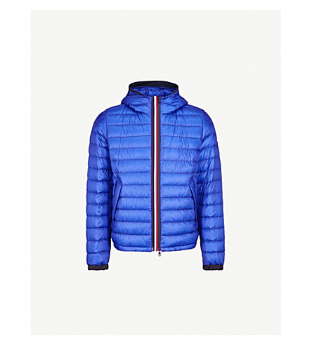 MONCLER Morvan hooded quilted shell-down jacket (Blue