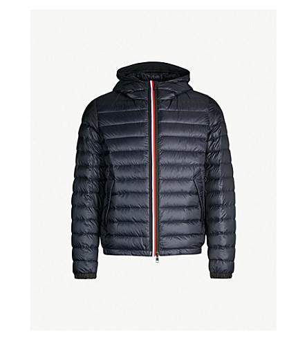 MONCLER Morvan hooded quilted shell-down jacket (Navy