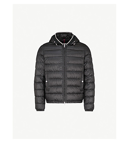 MONCLER Gravier hooded shell-down jacket (Black