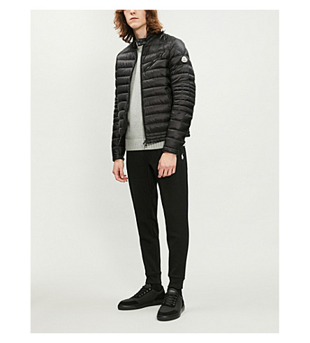 MONCLER Royat quilted shell-down biker jacket (Black