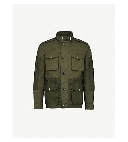 MONCLER Agard cotton and shell field jacket (Green