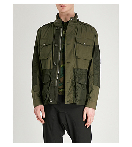 MONCLER Agard cotton and shell field jacket