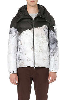 MONCLER Mountain-print quilted jacket
