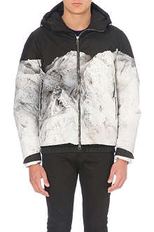 MONCLER Mountain-print hood jacket