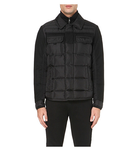 MONCLER Blais quilted shell and wool jacket (Black