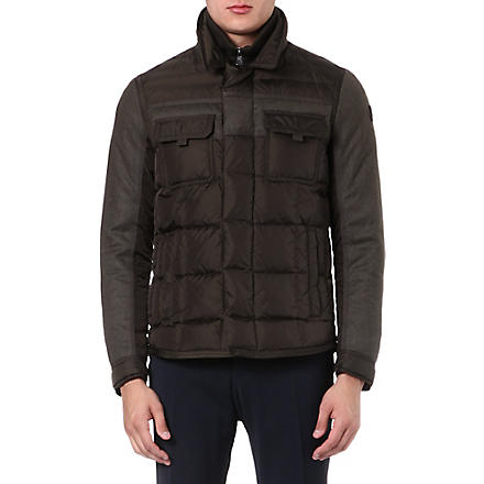 MONCLER Blais quilted panelled jacket (Kaki