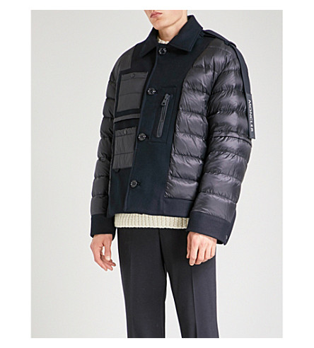 MONCLER Moncler x Craig Green quilted wool-down jacket (Navy