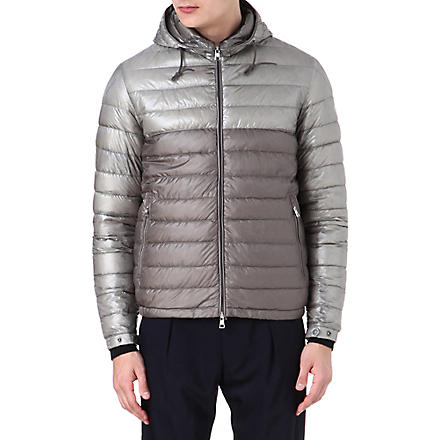 MONCLER Emeric bi-coloured quilted jacket (Silver/grey