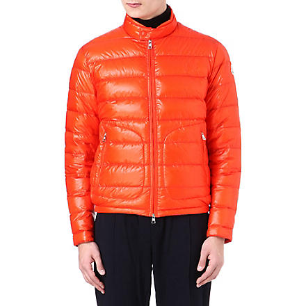 MONCLER Acorus quilted jacket (Orange