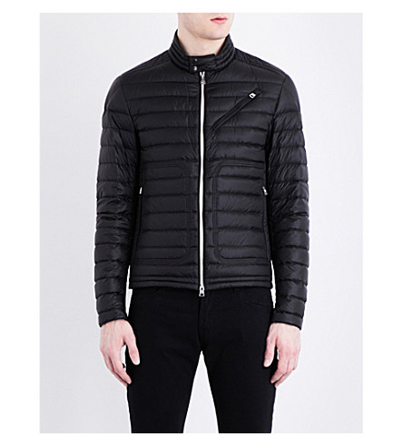MONCLER Picard quilted motorcycle jacket (Black